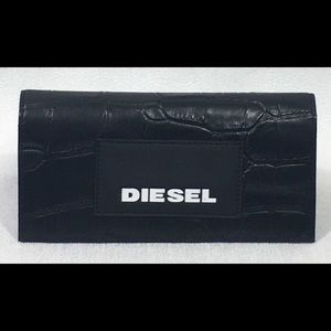 Diesel 24 Zip Around Wallet With Croc-Effect New